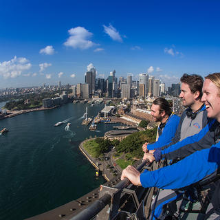 People taking in the view of the Sydney BridgeClimb