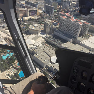 Las Vegas from helicopter