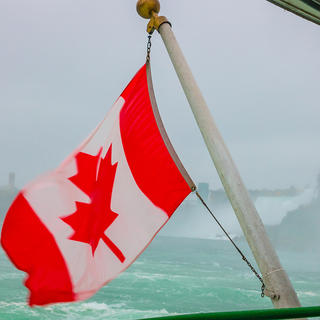 Canadian boat on Niagara River