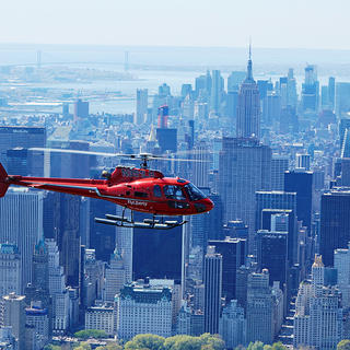 Helicopter over Manhattan