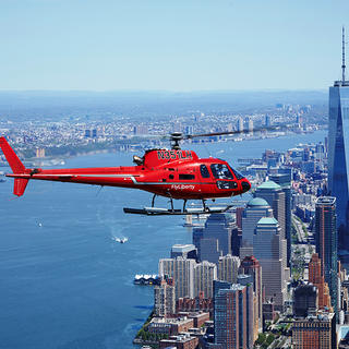 Helicopter in Downtown New York