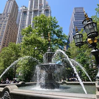 New York fountain